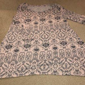 Mudd brand patterned 3/4 sleeve tunic